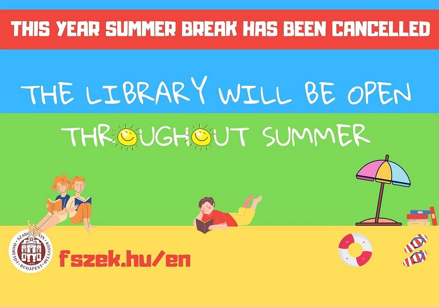 Metropolitan Ervin Szabó Library is preparing for the summer - our article has been updated